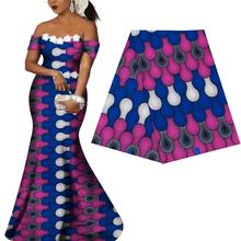 Royal Ankara Africa prints batik fabric guaranteed real dutch wax tissu 100% cotton sewing material for woman party dress 6yards