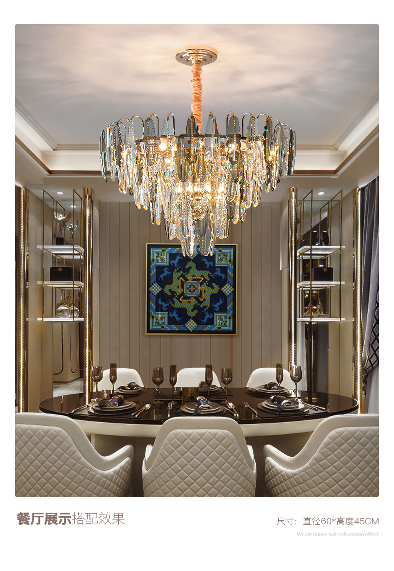 Pós moderna luz lustre de cristal luxo