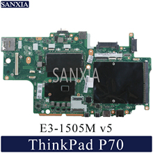 KEFU NM A441 Laptop motherboard for Lenovo ThinkPad P70 original mainboard DDR4 E3 1505M v5