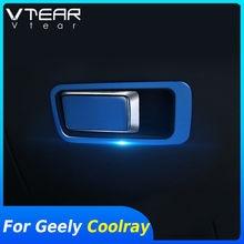 Vtear-manija de puerta de coche para Geely Coolray SX11, cubierta de diseño interior, marco de decoración, accesorios, parte 2020