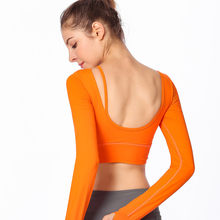 2021 Summer Tight Seamless Yoga Shirts Women Long Sleeve Gym Tops Fitness Woman Running Sport pole dancing T-Shirts Sports Wear