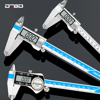 0-150mm/200mm/300mm Digital Display Stainless Steel Caliper 1/64 Fraction/MM/Inch LCD Electronic Vernier Caliper IP54 Waterproof digital vernier caliper stainless steel 150mm 6 inch fraction mm inch lcd caliper gauge micrometer