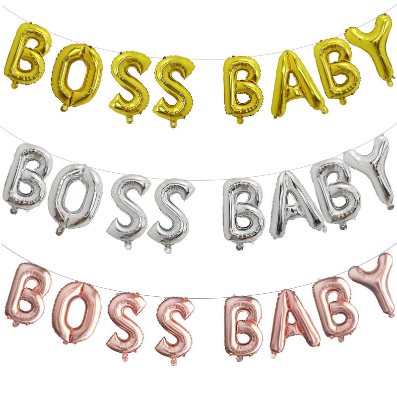 16inch letter balloon BOSS BABE Rose Gold/gold silver Party Balloons, Mylar Balloons, Baby Shower Balloon kids birthday party