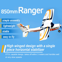 FMS 850mm Ranger Trainer Beginner RC Airplane Plane 4CH 3S Durable EPO PNP Model Hobby Aircraft Avion Small Size Cheap Easy