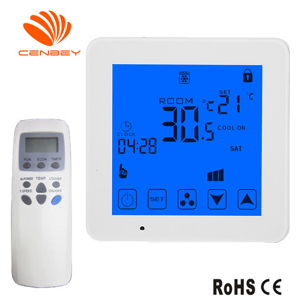 Wifi Smart Thermostat Air Conditioning Thermostat Three Speed Remote Control Switch Fan Coil Unit Room Temperature Controller