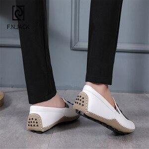 Image 4 - F.N.แจ็คPLUSขนาดรองเท้า 46 47 48 Mens Loafers Casualรองเท้าผู้ชายแฟชั่นหนังขับรถรองเท้าแตะผู้ชายรองเท้าman