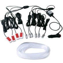 Светодиодные ленты холодсветильник для салона автомобиля, декоративные led полосы для приборной панели