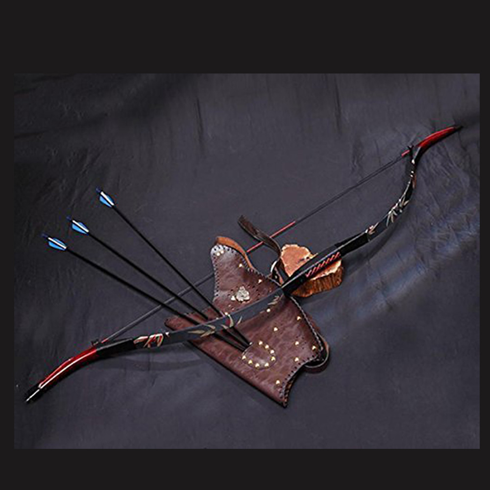 Toparchery 30-50Ibs Archery Bow For Hunting Bow Shooting Recurve Traditional Bow With Embroidered Silk Outdoor