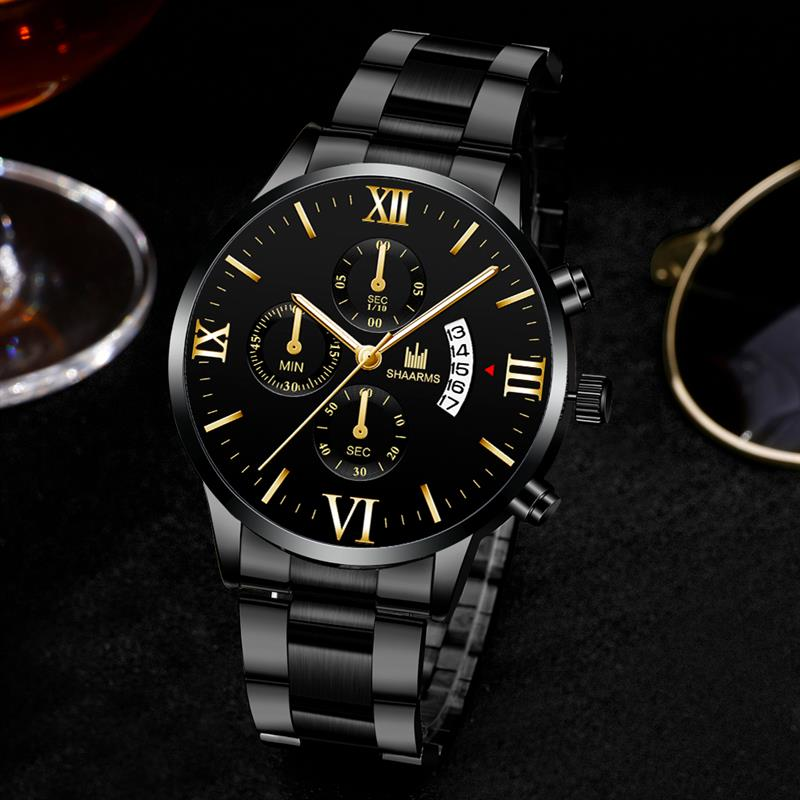 Mens Watches Shaarms Top Brand Luxury Militray Sport Quartz Watch Men Waterproof Male Sport Clock Wristwatches Relogio Masculino