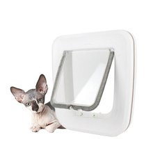 Pet Dog Door Safe Ferromagnetic Wall Entry Locking Automatically Close Cat Supplies Flap door