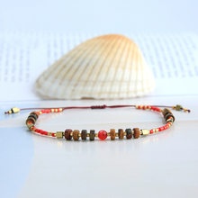 C.QUANCHI Miyuki Beaded Bracelets for Women Charm Bangles Adjustable Natural Stone Beads Friendship Wrap Bijoux