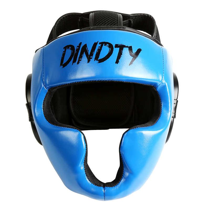 Hot Boxing Helmet Face Guard Thicken Sanda Fighting Muay Thai Adult Training L