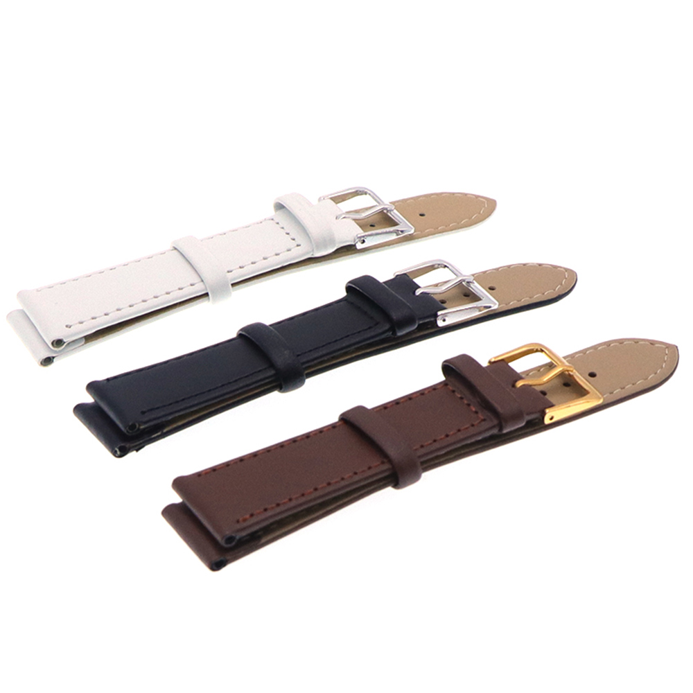 Watch Strap With Stainless Steel Buckle Leather Watch Strap 12,14, 16,18, 20,22,mm