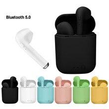 I12 original tws bluetooth fones de ouvido sem fio esporte fone estéreo fones de ouvido i7s tws bluetooth pk i9000 para smartphones