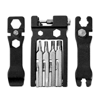 Kit de ferramentas de reparo de bicicleta portátil dobrável 20 in1 multi ferramenta de bicicleta para bicicletas de montanha de estrada|Ferramentas p/ reparo de bicicletas|   -