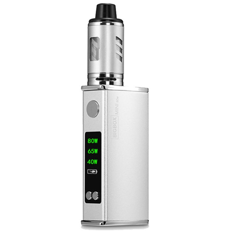 HHO-80W Adjustable Vape Mod Box Kit 2200mah 0.3ohm 3ml Tank E-cigarette Big Smoke Atomizer Vaper(silver)