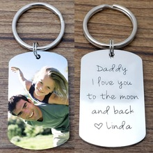 Personalized Picture Keychain Custom Photo Keychain Keepsake Keyring Gift For Him Fathers