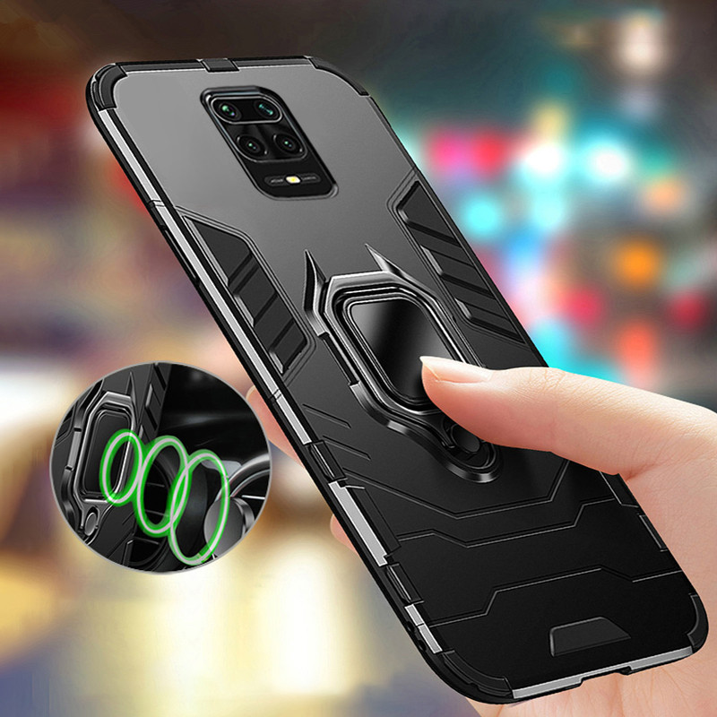 Magnetic car <font><b>Ring</b></font> armor <font><b>case</b></font> for xiaomi redemi <font><b>Note</b></font> 9S <font><b>9</b></font> pro Max soft bumper protector phone cover for redmi9 S 9pro Max Not 9S image