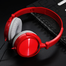 Wired Foldable Headphones With Microphone Over Ear Headsets kids gift Music Stereo Earphone