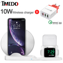 Universal 18W USB EU US Quick Charger 3.0 for Iphone X 8PLUS Samsung NOTE10PLUS REDMI 9T 10W QI Fast Best Wireless Stand