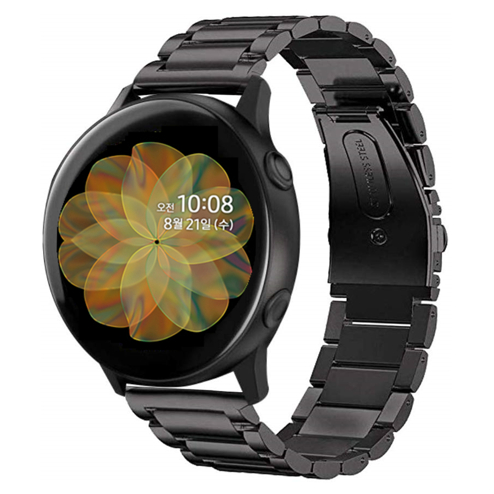 For Samsung Galaxy Watch Active 2 40mm Bands Active2 44mm Band 20mm 22mm Stainless Steel Strap Bracelet For Galaxy Watch 46mm