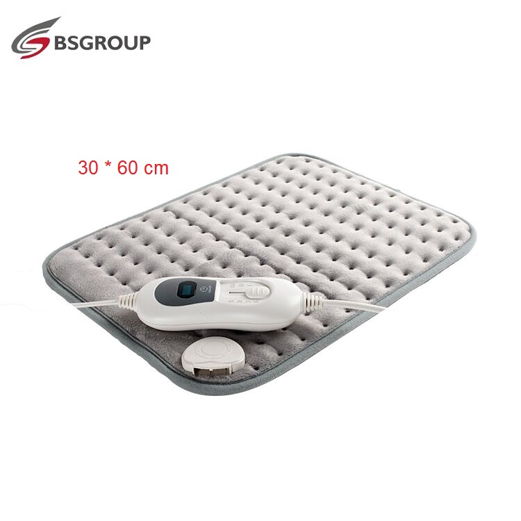 Extra XL King Size 30*60CM 220V-240V 100W Ultrasonic Electric Heating Pad For Stomach Waist Back Pain Relief Body Warmer EU Plug