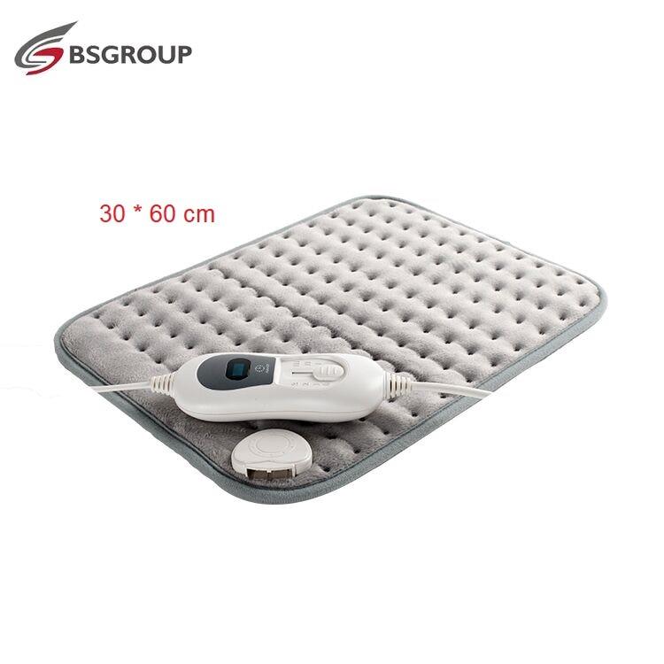 Extra XL King Size 30*60CM 220V-240V 100W Ultrasonic Electric Heating Pad For Stomach Waist Back Pain Relief Body Warmer EU Plug