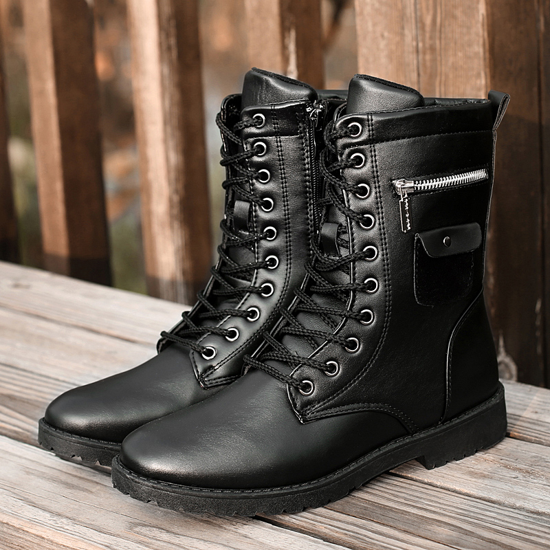 Мужские ботинки в байкерском стиле ботинки для мотокросса обувь Harley ботинки в стиле ретро Ботинки martin из искусственной кожи в стиле панк ба