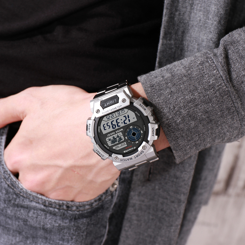 Montre Military-Watch Homme Multi-Function Waterproof Alloy-Steel Luminous Men's Sport title=