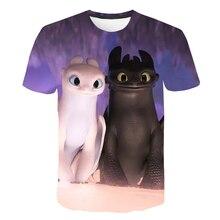 Boys/Girls Toothless The Night Fury Cartoo Print T shirt Kids Funny Clothes Children Summer Short Sleeve Baby T-shirt
