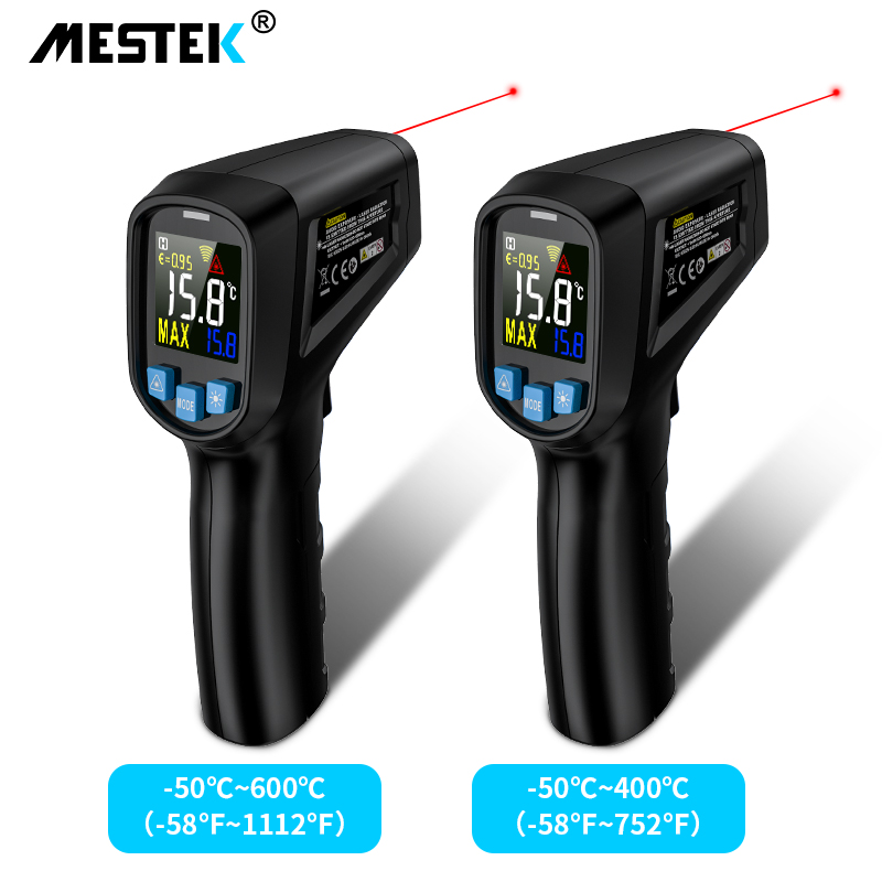 Digital Infrared Thermometer -50~600C Laser Temperature Meter Gun Digital LCD Industrial Outdoor Laser Pyrometer IR Thermometer