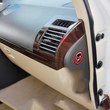 ABS Plastic Car left and right air outlet frame Cover Trim For Toyota Land Cruiser Prado FJ150 2010 - 2017 car styling 2pcs lapetus roof air ac outlet vent frame cover trim for toyota land cruiser prado fj150 2011 2020 auto styling abs pearl chrome