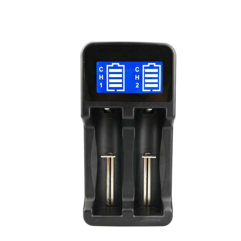مزدوجة فتحة الذكية LCD شاحن بطارية ل 26650 18650 18500 18350 17670 16340 14500 بطارية ليثيوم LHB99