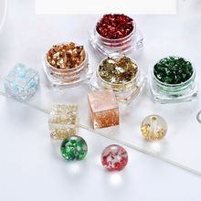 12 Box Gold Silver Foil Paper Sequins Resin Mold Fillings Jewelry Making