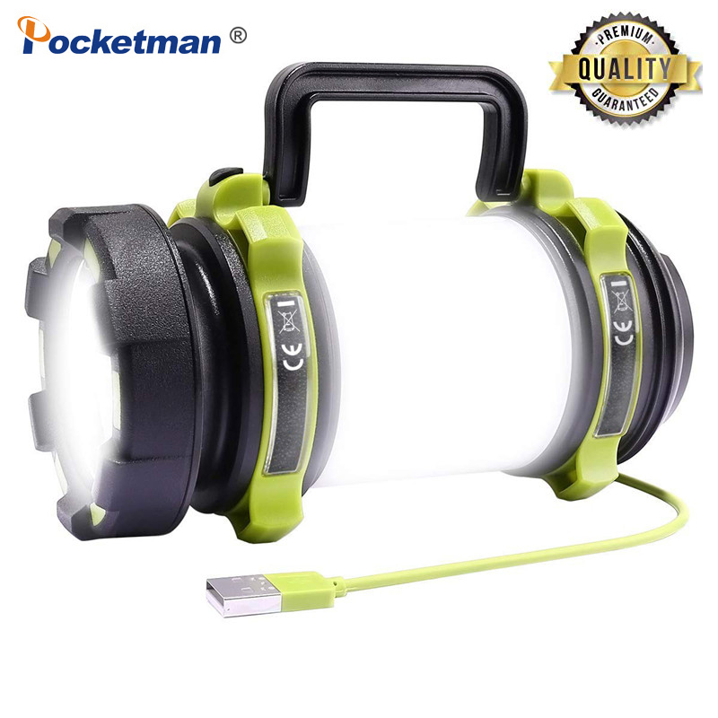 8000 Lumen 100W Long Use,USB Rechargeable LED Torch Camping Lantern Water Resistant Outdoor Search Flashlight For Fish Hunt