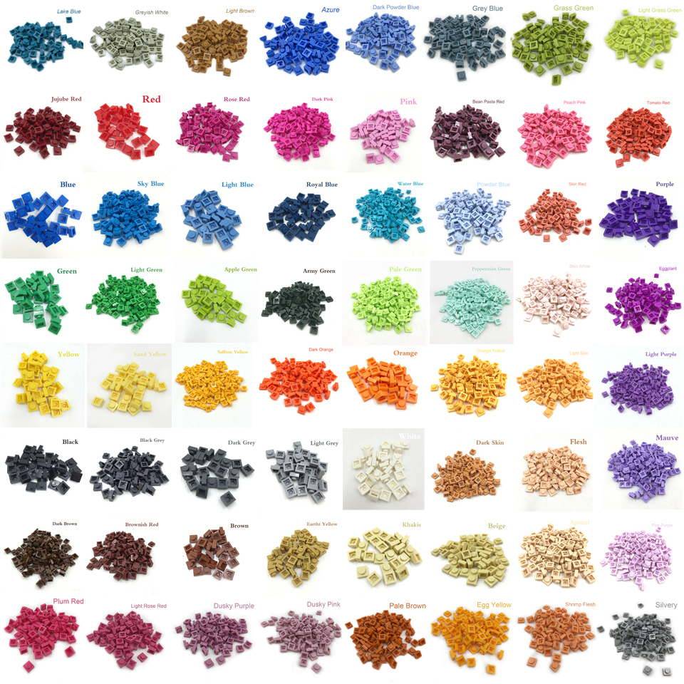 NEW LEGO Part Number 3024 in a choice of 18 colours
