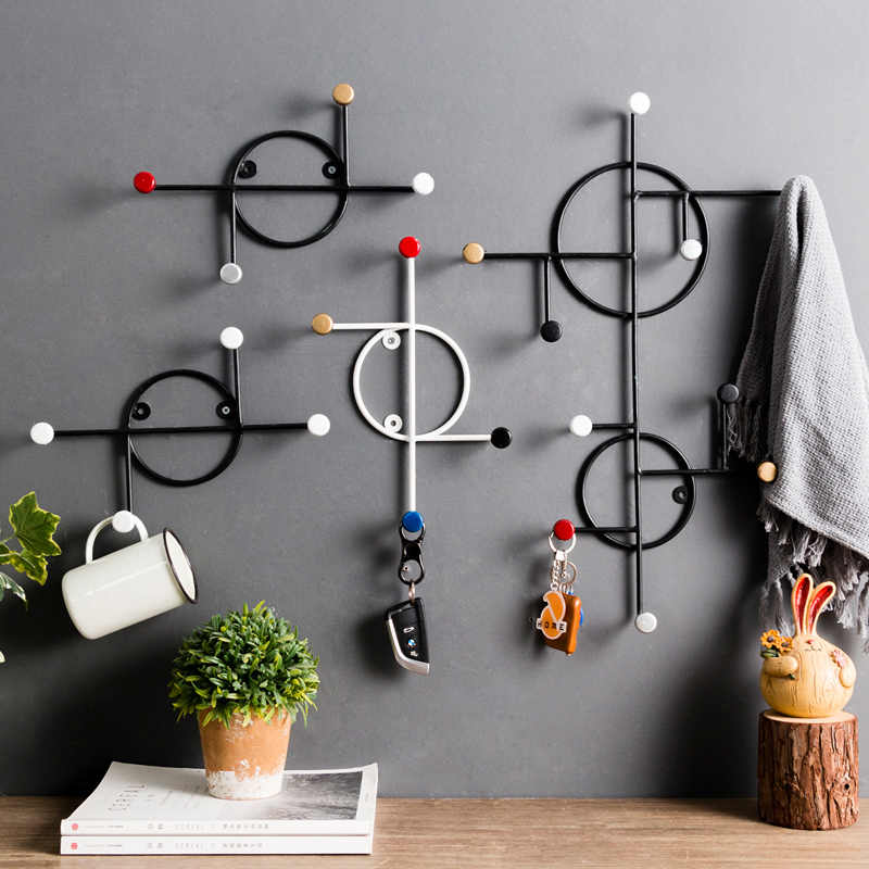 Modern Simple Metal Wall Mounted Coat Rack Modern Wall Hat Coat Hook Hangers Creative Designer Fashion Hanger Aliexpress