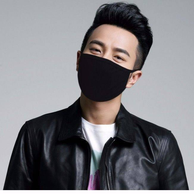 Unisex Black Mask Soft Cotton Dustpro Of PM2.5 Pollution Half Face Mouth Breathing Mask Washable Reusable Respirator