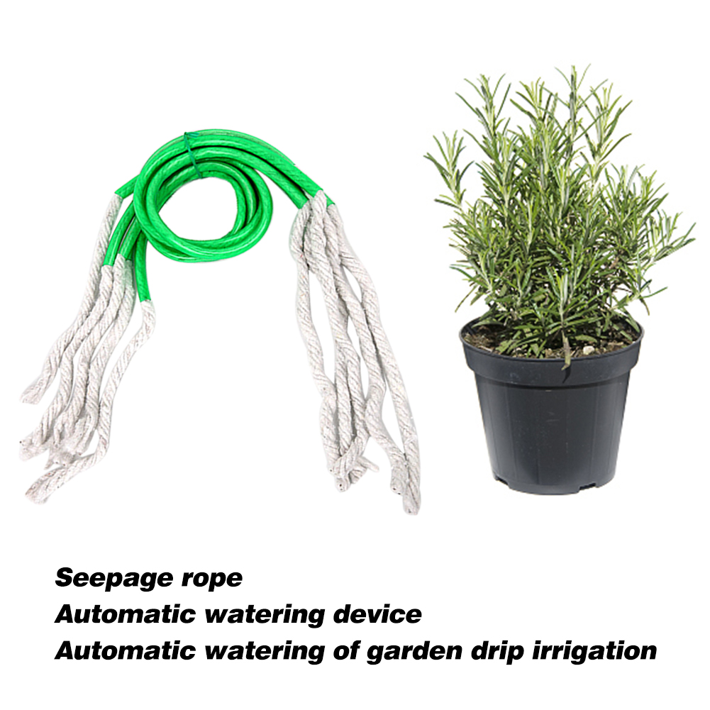 Muciakie 5pcs 95cm Holiday Waterer Self Watering Wick Cord For Home Indoor Outdoor Plants Vacation Auto Drip Irrigation Waterer