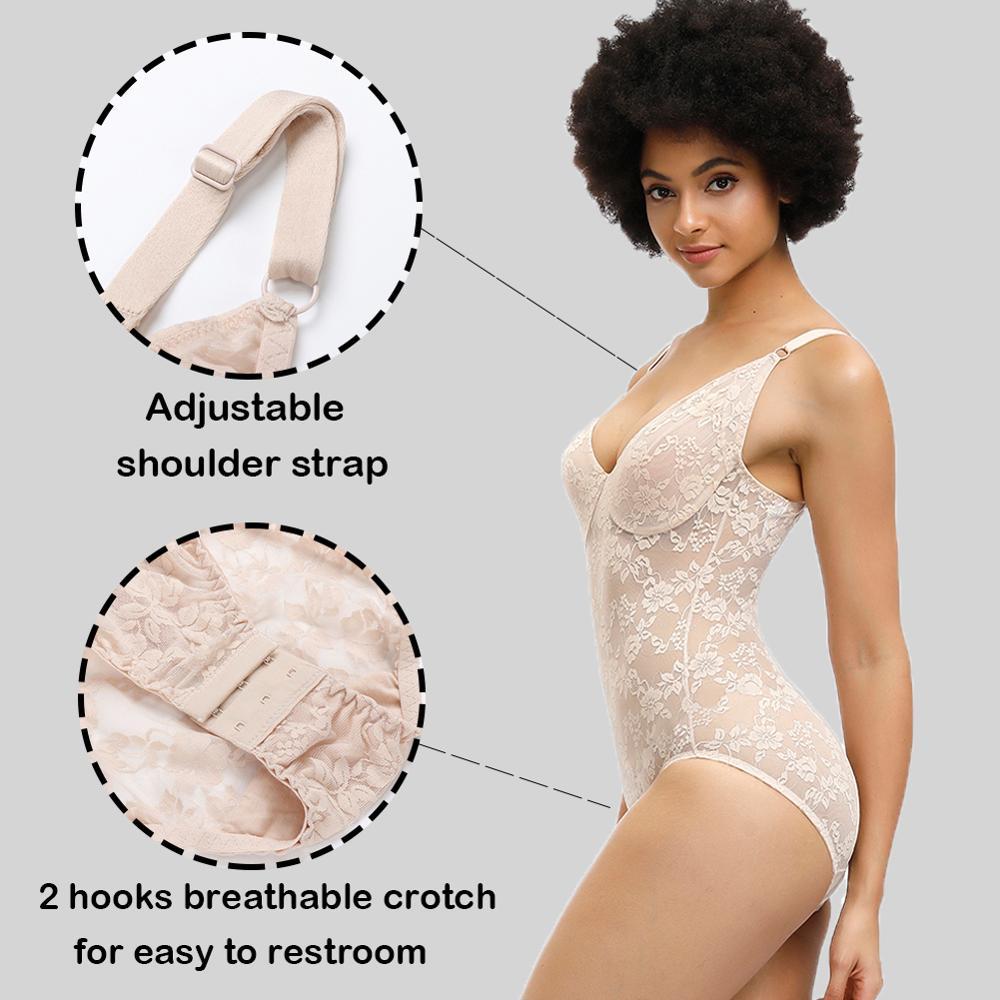WAIST SECRET Women Slimming Underwear Bodysuit Body Shaper Waist Trainer Shapewear Sexy Lace Postpartum Recovery Butt Lifter in Bodysuits from Underwear Sleepwears