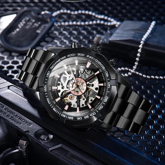 Winner Watch Men Skeleton Automatic Mechanical Watch Gold Skeleton Vintage Man Watch Mens Watches Top Brand Luxury часы мужские 5