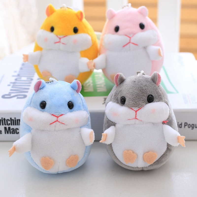 Stuffed Animals Plush Hamster Doll Baby Toys Christmas Gift Cute Soft  Hamster Kids Toys Keychain Plush Toys Girls Birthday Gift