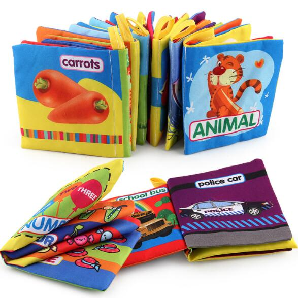 3pcs Pack Baby Education Books Toys Cloth Book Infant Kids Early Development Learning Baby Toy Newborn Toys 0-36 Month BS03