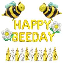Happy Bee Day Balloons Bee Party Decorations Happy Bee Day Banner Bee Baby Shower Decoration Foil Balloons Bumble Bee Birthday P bumble bee chunk light tuna in water
