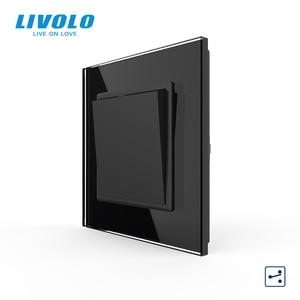 Image 4 - Livolo Manufacturer EU standard Luxury crystal glass panel,Push button 2 Way switch, keyboard switch ,key pad cross switch