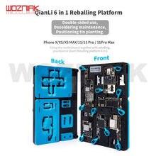 Qianli 6in1 fixação de precisão melhor qualidade braçadeira para iphone x xs xsmax 11 pro max placa-mãe chip reparação plantio estanho