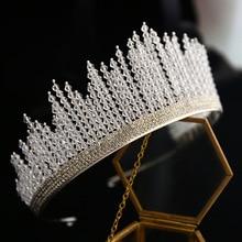 Bride Korean Crown 2019 Crystal beads New design Wedding Hair Accessories brides tiara