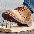 Безопасная обувь и головные уборы; мужские туфли-оксфорды со стальным носком на низкой подошве; Рабочая обувь; Нескользящая дышащая сетчата...