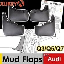 ของแท้XUKEYรถMud FlapsสำหรับAudi Q3 Q5 FY Q7 S Line SQ5 Mudflaps Splash Guards Mud Flap mudguards Fenderด้านหลัง