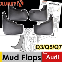 אמיתי XUKEY רכב בוץ דשים עבור אאודי Q3 Q5 פ. י. Q7 S קו SQ5 Mudflaps משמרות Splash בוץ דש מגני בץ פגוש קדמי אחורי